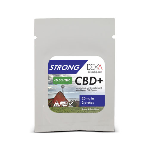 Strong Calcium CBD Gummy Sample Full Spectrum