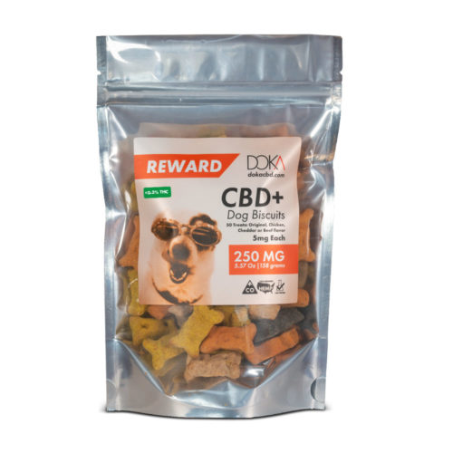 CBD Dog Treats 250mg 50 pieces 5mg CBD